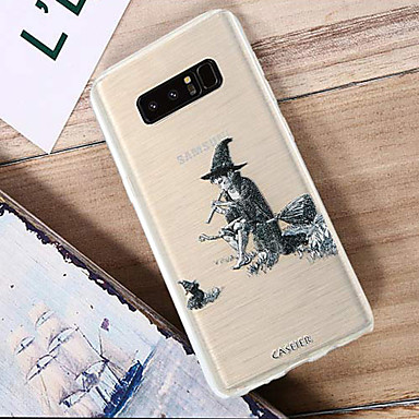 voordelige Galaxy S-serie hoesjes / covers-hoesje Voor Samsung Galaxy S8 Plus / S8 / S7 edge Waterbestendig / Stofbestendig / Doorzichtig Achterkant Cartoon TPU