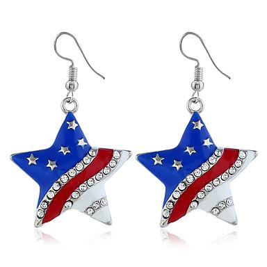 رخيصةأون أقراط-نسائي حلقات العلم الأمريكي علم الأقراط مجوهرات أزرق من أجل مناسب للبس اليومي 2pcs