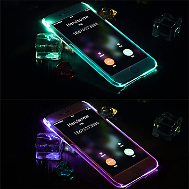 voordelige iPhone-hoesjes-hoesje Voor Apple iPhone XS Max / iPhone X LED-knipperlicht / Transparant Achterkant Effen TPU