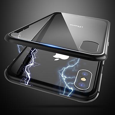 voordelige iPhone-hoesjes-hoesje voor Apple iPhone X / iPhone 8 plus stofdicht / ultradunne / doorschijnende achterkant doorschijnend gehard glas / waterdicht / mode telefoonhoesje voor iPhone 6 / 6s plus / iPhone 7/8 / iPhone
