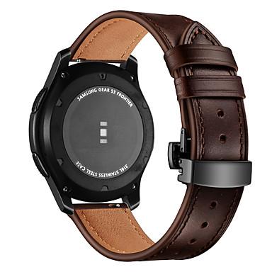 voordelige Horlogebandjes voor Samsung-Horlogeband voor Gear S3 Classic Samsung Galaxy Sportband Echt leer Polsband