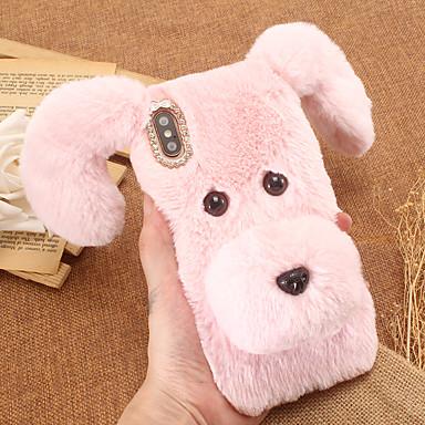 voordelige iPhone-hoesjes-hoesje Voor Apple iPhone XR / iPhone XS Max DHZ Achterkant dier tekstiili / TPU