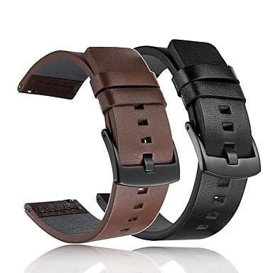 voordelige Smartwatch-accessoires-Horlogeband voor Gear S3 Frontier / Gear S2 Samsung Galaxy Klassieke gesp / DHZ Gereedschap Echt leer Polsband