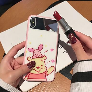 Недорогие Кейсы для iPhone-чехол для яблока iphone xs / iphone xr / iphone xs max зеркало / ультратонкий / рисунок с задней крышкой мультфильм закаленное стекло