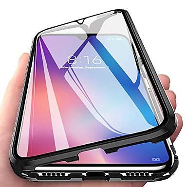 Недорогие Чехлы и кейсы для Xiaomi-Кейс для Назначение Xiaomi Xiaomi Mi 8 / Xiaomi Mi 9 / Xiaomi Mi 9 SE Магнитный Чехол Прозрачный Закаленное стекло