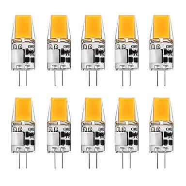 voordelige LED-lampen-10 stuks 5 W 2-pins LED-lampen 300 lm G4 T 1 LED-kralen COB Warm wit Wit 12 V