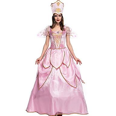 cheap Latin Dancewear-Elf Costume Women's Fairytale Theme Halloween Performance Theme Party Costumes Women's Dance Costumes Polyester Split Joint