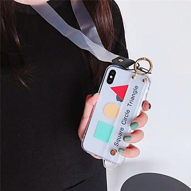 Недорогие Кейсы для iPhone X-чехол для apple iphone xs max / iphone 8 plus пылезащитный / браслет / задняя крышка с геометрическим рисунком мягкое тпу для iphone 7/7 plus / 8/6/6 plus / xr / x / xs