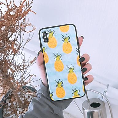 Недорогие Кейсы для iPhone-Кейс для Назначение Apple iPhone XS / iPhone XR / iPhone XS Max Ультратонкий Кейс на заднюю панель Продукты питания / Мультипликация ТПУ