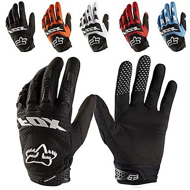 voordelige Motor- & ATV-accessoires-full-finger motorhandschoenen leer stof slijtvaste motor guantes handschoenen