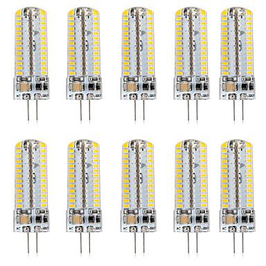 رخيصةأون LED وإضاءة-10pcs 5 W أضواء LED Bi Pin 500 lm G4 T 104 الخرز LED SMD 3014 تصميم جديد أبيض دافئ أبيض 220-240 V 110-120 V
