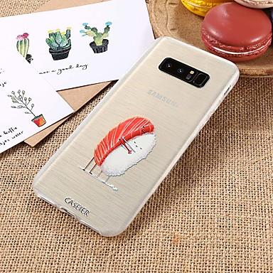 voordelige Galaxy S-serie hoesjes / covers-hoesje Voor Samsung Galaxy S9 / S9 Plus / S8 Plus Waterbestendig / Stofbestendig / Doorzichtig Achterkant Voedsel TPU