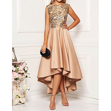 cheap Midi Dresses-Women's A-Line Dress Midi Dress - Sleeveless Floral Solid Color Print Spring Fall Elegant Cocktail Party Prom Birthday 2020 Khaki M L XL XXL XXXL