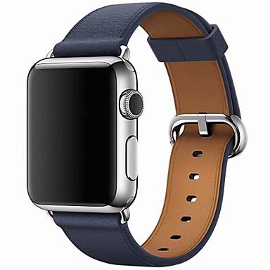 رخيصةأون أساور ساعات هواتف أبل-حزام إلى أبل ووتش سلسلة 5/4/3/2/1 Apple بكلة كلاسيكية جلد طبيعي شريط المعصم