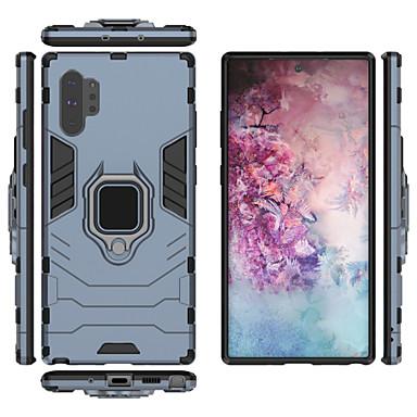 Недорогие Чехлы и кейсы для Galaxy Note-Кейс для Назначение SSamsung Galaxy Note 9 / Note 8 / Galaxy Note 10 Защита от пыли / Кольца-держатели / Магнитный Кейс на заднюю панель Однотонный ТПУ / ПК / Металл