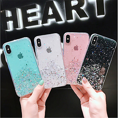 voordelige iPhone 6 hoesjes-hoesje voor apple iphone xs / iphone xr / iphone xs max / x / 6/7 / 6plus / 7plus doorschijnend / patroon achterkant transparant / sky pu leer
