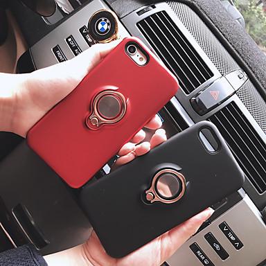 Недорогие Кейсы для iPhone 7-Кейс для Назначение Apple iPhone XS / iPhone XR / iPhone XS Max Кольца-держатели / С узором Кейс на заднюю панель Однотонный ПК