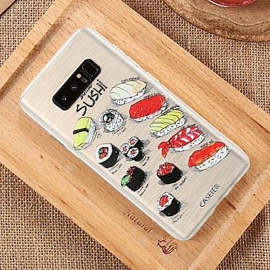 voordelige Galaxy S-serie hoesjes / covers-hoesje Voor Samsung Galaxy S8 Plus / S8 / S7 edge Waterbestendig / Stofbestendig / Doorzichtig Achterkant Voedsel TPU
