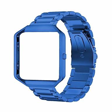voordelige Smartwatch-accessoires-Horlogeband voor Fitbit Blaze Fitbit Sieradenontwerp Roestvrij staal Polsband