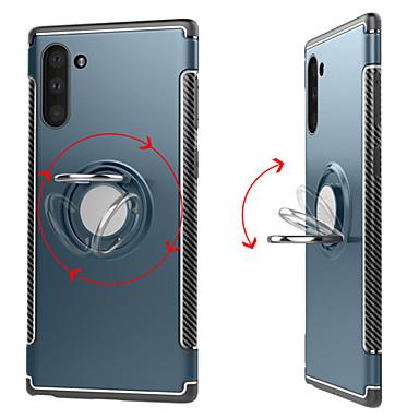 Недорогие Чехлы и кейсы для Galaxy Note-Кейс для Назначение SSamsung Galaxy Note 9 / Note 8 / Galaxy Note 10 Кольца-держатели / Магнитный Кейс на заднюю панель Однотонный ТПУ / ПК / Металл