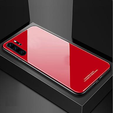voordelige Galaxy Note-serie hoesjes / covers-hoesje Voor Samsung Galaxy Samsung Note 10 / Galaxy Note 10 Plus Schokbestendig / Ultradun Achterkant Effen Gehard glas