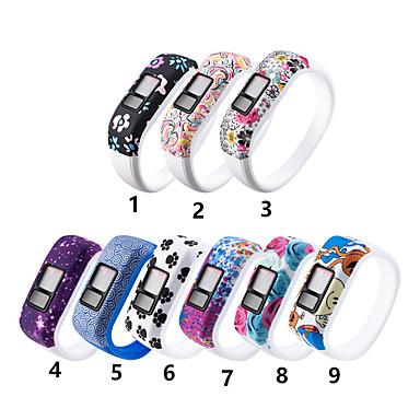 Недорогие Аксессуары для мобильных телефонов-силиконовый ремешок для браслета для garmin vivofit jr jr2 vivofit 3 замена трекера активности большие / маленькие спортивные часы браслет ремешок