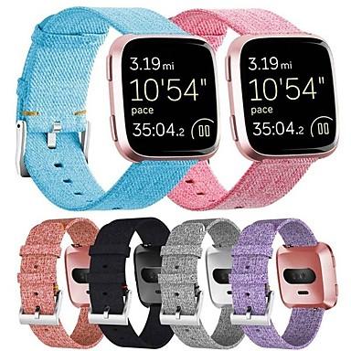 voordelige Smartwatch-accessoires-Horlogeband voor Fitbit Versa Fitbit Klassieke gesp Stof Polsband