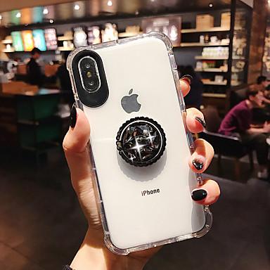 Недорогие Кейсы для iPhone 7-чехол для apple iphone xs / iphone xr / iphone xs max ударопрочный / держатель кольца / прозрачная задняя крышка прозрачный тпу