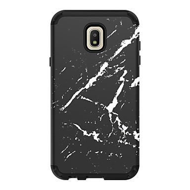 voordelige Galaxy J-serie hoesjes / covers-hoesje Voor Samsung Galaxy J7 (2018) / J7 / Galaxy J7 (2017) Schokbestendig Achterkant Lijnen / golven / Marmer PC