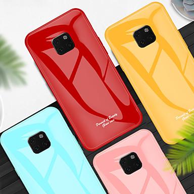 voordelige Huawei Mate hoesjes / covers-schokbestendig gehard glazen telefoonhoesje voor Huawei mate 20 pro mate 20 beschermhoes voor Huawei mate 10 pro mate 10 siliconen TPU bumperrand