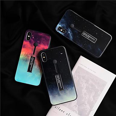voordelige iPhone-hoesjes-hoesje voor Apple iPhone XS Max / iPhone 8 plus stofdicht / met standaard achterkant Sky / kleurverloop TPU / gehard glas voor iPhone 7/7 Plus / 8/6/6 Plus / XR / X / XS