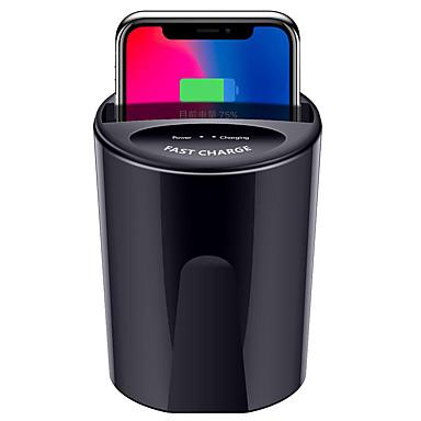 Недорогие Беспроводные зарядные устройства-быстрое беспроводное автомобильное зарядное устройство для samsung s9 s8 note10 9 ци беспроводная зарядка автомобильная чашка для iphone xsmax / xr / 8plus 10 Вт универсальный