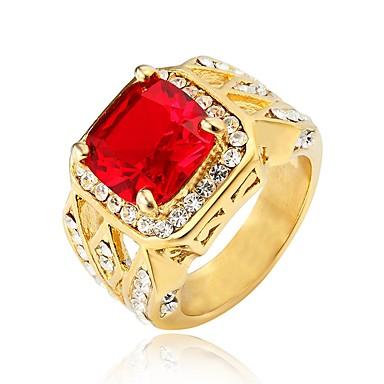 رخيصةأون خواتم-نسائي عصابة الفرقة خاتم 1PC أبيض أحمر أزرق الصلب التيتانيوم دائري عتيق أساسي موضة مناسب للبس اليومي مجوهرات