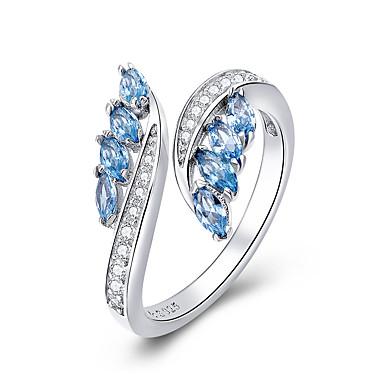 رخيصةأون خواتم-مجموعة جديدة 925 الفضة الاسترليني فراشة شكل الضوء الأزرق تشيكوسلوفاكيا خواتم الاصبع للنساء مجوهرات الزفاف الاشتباك bsr27005