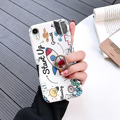 voordelige iPhone-hoesjes-hoesje Voor Apple iPhone XS / iPhone XR / iPhone XS Max Fidget spinner / met standaard / Patroon Achterkant Woord / tekst / Cartoon PC