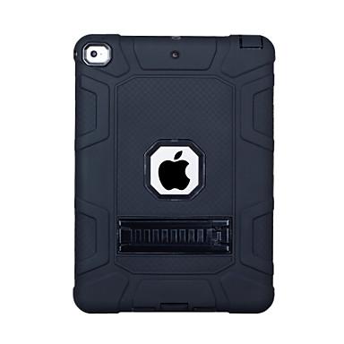 رخيصةأون أغطية أيباد-غطاء من أجل Apple iPad (2018) / iPad (2017) ضد الصدمات / مع حامل غطاء خلفي لون سادة الكمبيوتر الشخصي / جل السيليكا