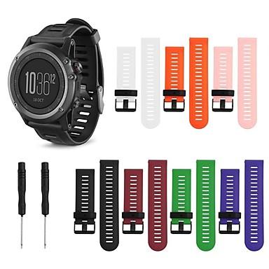 voordelige Smartwatch-accessoires-Horlogeband voor Fenix 5x / Fenix 3 HR / Fenix 3 Garmin Klassieke gesp / DHZ Gereedschap Silicone Polsband
