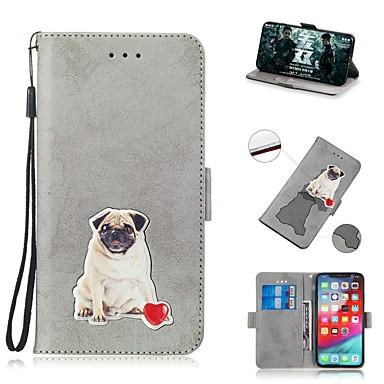 Недорогие Кейсы для iPhone 7-чехол для apple iphone xs / iphone xr / iphone xs max кошелек / держатель карты / противоударный чехол для всего тела из искусственной кожи для iphone 8 plus / iphone 7 plus / iphone 6s plus / iphone