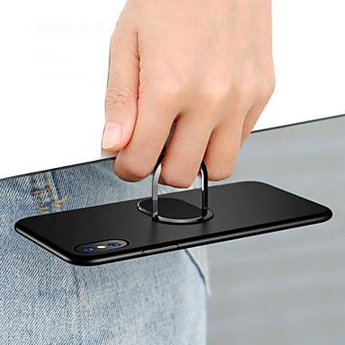 Недорогие Кейсы для iPhone X-Кейс для Назначение Apple iPhone 11 / iPhone 11 Pro / iPhone 11 Pro Max Защита от удара / со стендом / Кольца-держатели Кейс на заднюю панель Однотонный Твердый ПК / Металл