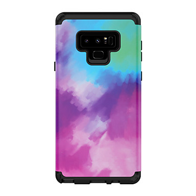 economico Custodie / cover per Galaxy serie Note-Custodia Per Samsung Galaxy Note 9 Resistente agli urti Per retro Colore graduale e sfumato PC