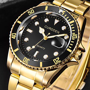 ieftine Ceasuri Bărbați-Bărbați Ceas Elegant Quartz Stil Oficial Stl Lux Calendar Analog Negru / Auriu Aur / argint / negru Albastru piscină / Un an / Oțel inoxidabil