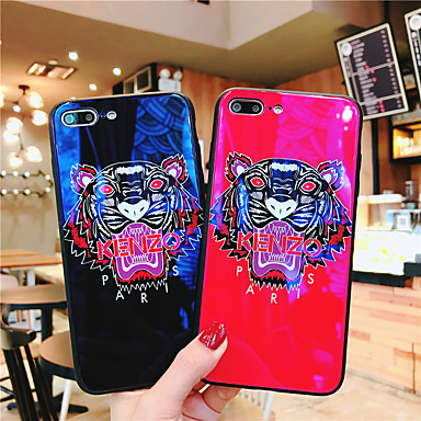 voordelige iPhone 7 hoesjes-hoesje Voor Apple iPhone XS / iPhone XR / iPhone XS Max Ultradun / Patroon Achterkant Woord / tekst / dier / Cartoon TPU