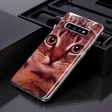 Недорогие Чехлы и кейсы для Galaxy S-чехол для samsung galaxy s10 plus / galaxy s10 e imd / выкройка задней обложки гарфилд кошка тпу для s8 / s8 plus / s9 / s9 plus / s10