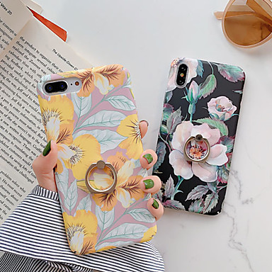 voordelige iPhone-hoesjes-hoesje Voor Apple iPhone XS / iPhone XR / iPhone XS Max Fidget spinner / met standaard / Patroon Achterkant Cartoon / Bloem PC