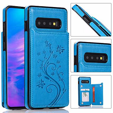 Недорогие Чехлы и кейсы для Galaxy Note-роскошный кожаный чехол для телефона для samsung galaxy s10 plus s10e s10 s9 plus s9 s8 plus s8 s7 edge s7 держатель бумажника для карт с тиснением цветочная сумка для телефона для galaxy note 10 plus