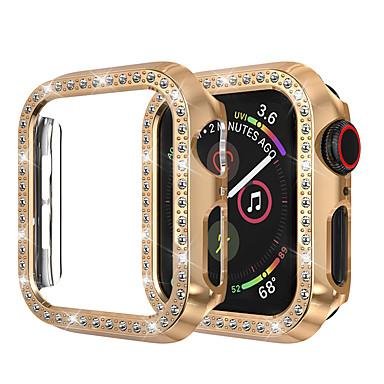 voordelige Smartwatch-hoezen-voor Apple Watch iwatch-hoes 44 mm / 40 mm / 38 mm / 42 mm serie 4 3 2 1 iwatch hoes beschermend frame met bling kristal strass diamant