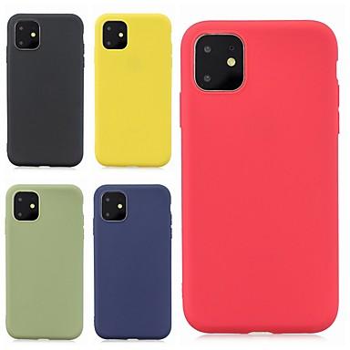 Недорогие Кейсы для iPhone-чехол для яблока iphone 11 / iphone 11 pro / iphone 11 pro max ультратонкий / матовая задняя крышка сплошной цветной тпу мягкий