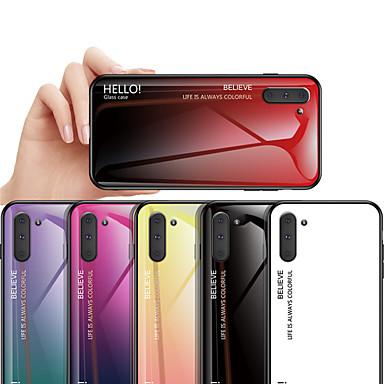 Недорогие Чехлы и кейсы для Galaxy Note-Чехол с градиентным закаленным стеклом для Samsung Galaxy Note 10 Note 10 Pro Note 9 Примечание 8 Защитная крышка Fundas Tpu Edge