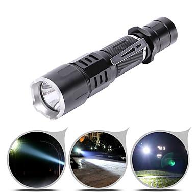 olcso Elemlámpák-U'King LED zseblámpák 2000 lm LED Sugárzók 5 világítás mód Hordozható Tartós Kempingezés / Túrázás / Barlangászat Mindennapokra Kerékpározás Fekete / Alumínium ötvözet