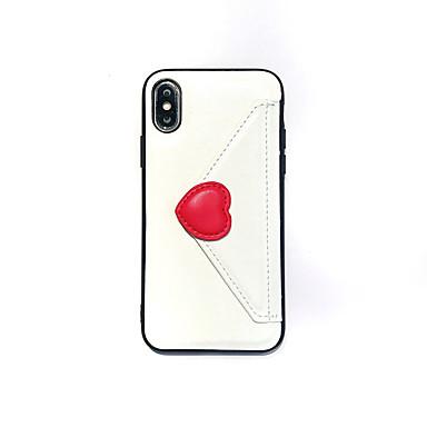 Недорогие Кейсы для iPhone 7 Plus-Кейс для Назначение Apple iPhone XS / iPhone XR / iPhone XS Max Кошелек / IMD / Ультратонкий Кейс на заднюю панель С сердцем Кожа PU / ТПУ